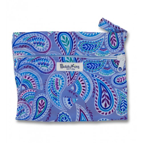 SW001 Blue Paisley Small Wet Bag