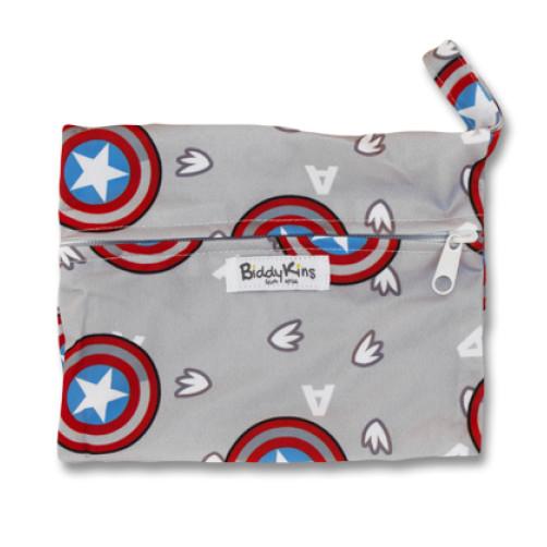 SW005 Captain America Small Wet Bag