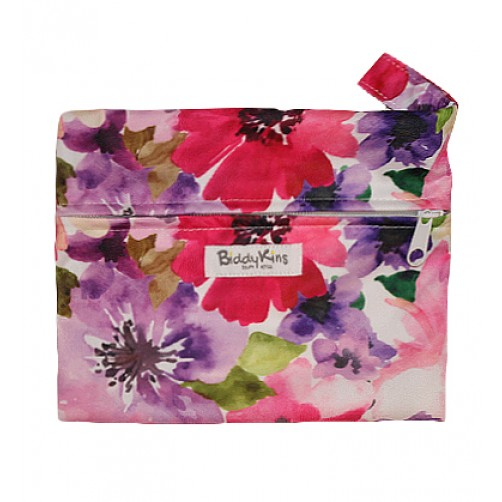 WS010 Floral Watercolour Small Wet Bag