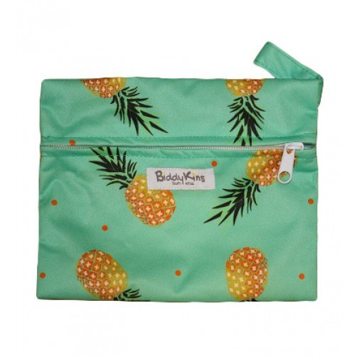 WS012 Pineapples Small Wet Bag