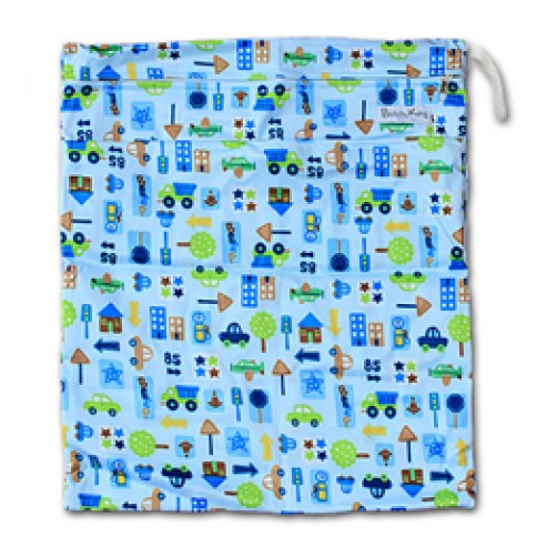 W005 Blue Traffic Smooth Wet Bag