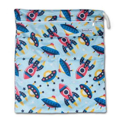 W008 Blue Rockets Smooth Wet Bag