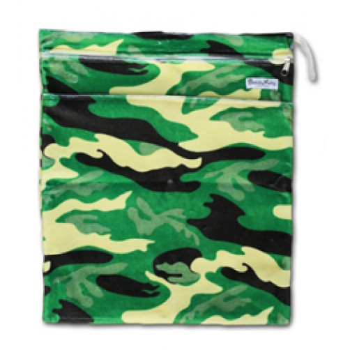 W522 Camo Minky Wet Bag