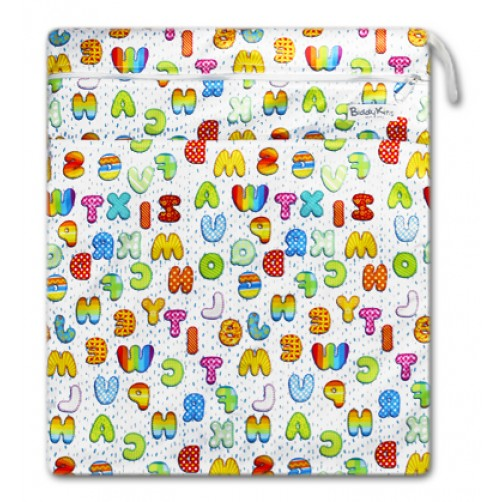 W022 MultiColor Letters Smooth Wet Bag