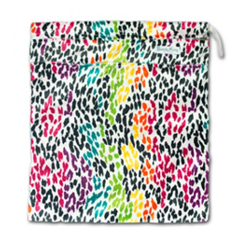 W524 Multicolour Spots Minky Wet Bag