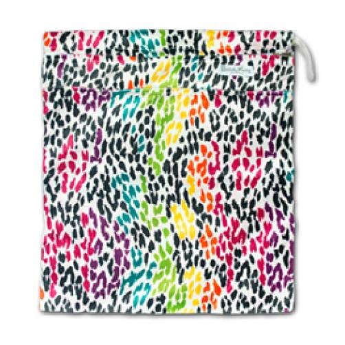 W524 Multicolour Spots Minky Wet Bag