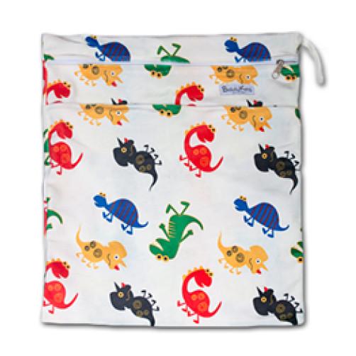W528 Dinosaurs Minky Wet Bag