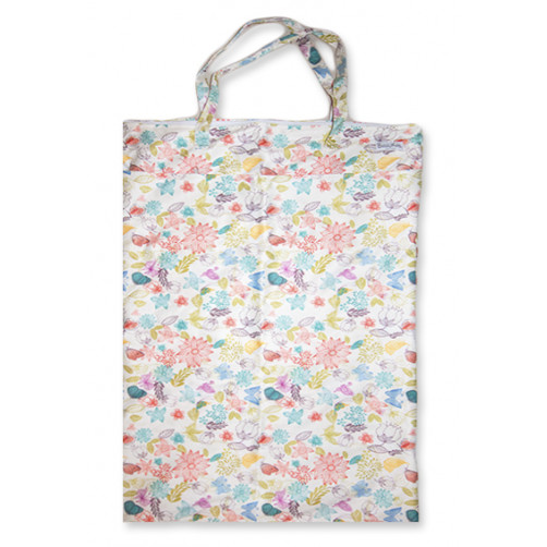 XLW001 - XL Wet Bag - Cream Floral