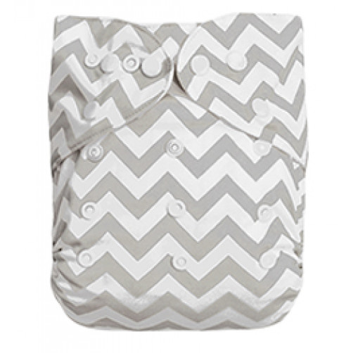 XLB01 Extra Large Grey Chevron Pocket