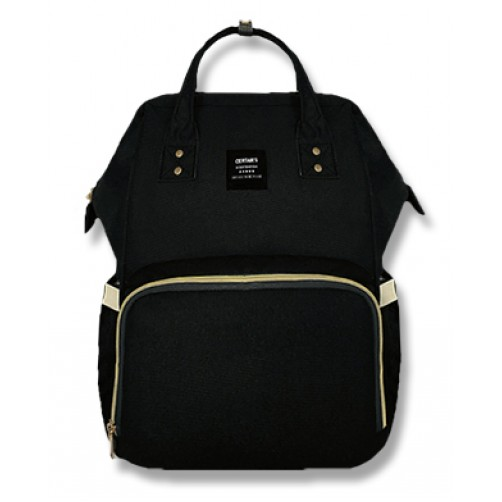 Black Imported Nappy Backpack