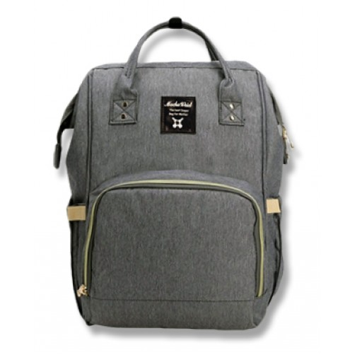Grey Imported Nappy Backpack