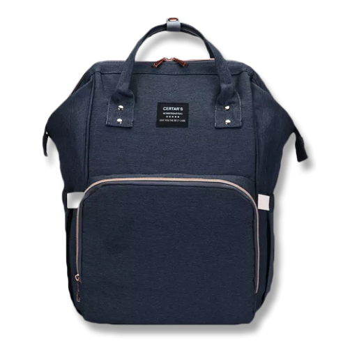 Navy Imported Nappy Backpack