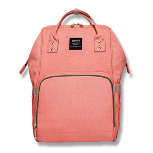 Peach Pink Imported Nappy Backpack