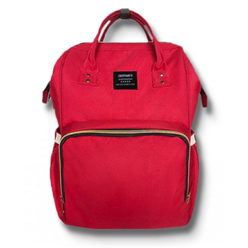 Red Imported Nappy Backpack