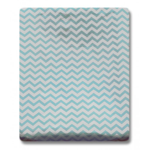 CMC002 Aqua Chevron Changing Mat Cover