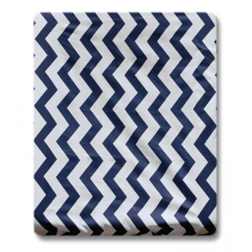CMC003 Navy Chevron Changing Mat Cover