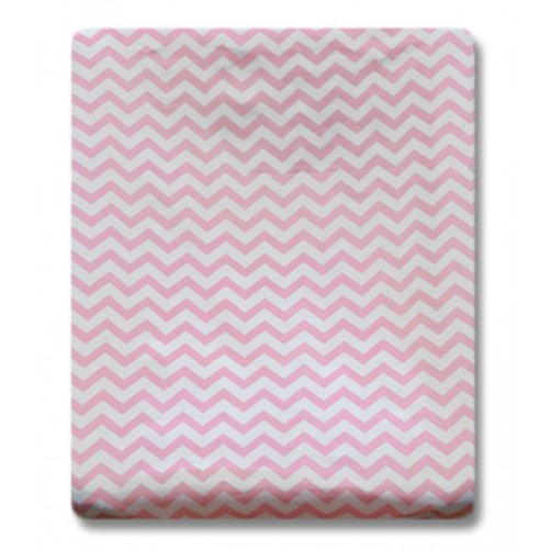 CMC004 Pink Chevron Changing Mat Cover