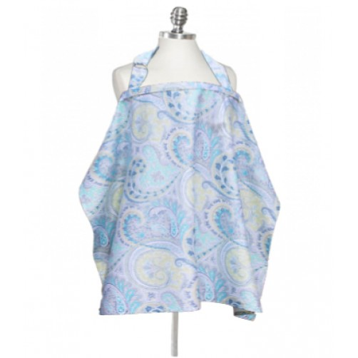 NC003 Turquoise Yellow Paisley Nursing Cover