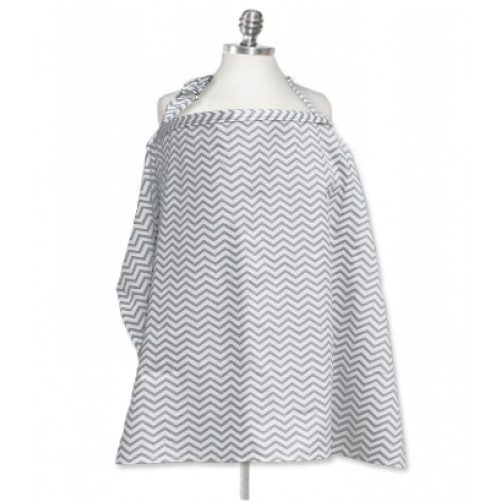NC005 Grey Chevron Nursing Cover