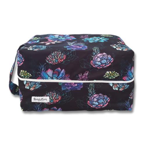 PB069 Black Large Floral Pod Bag