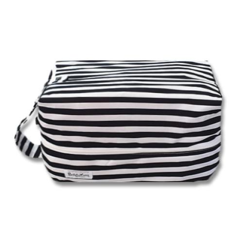 PB054 Black White Stripe Pod Bag