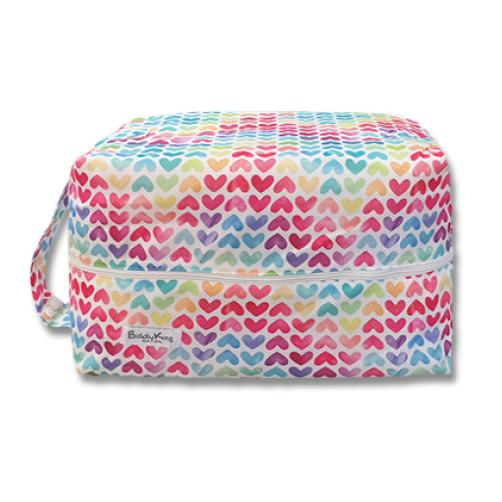 PB062 Multicolor Hearts Pod Bag