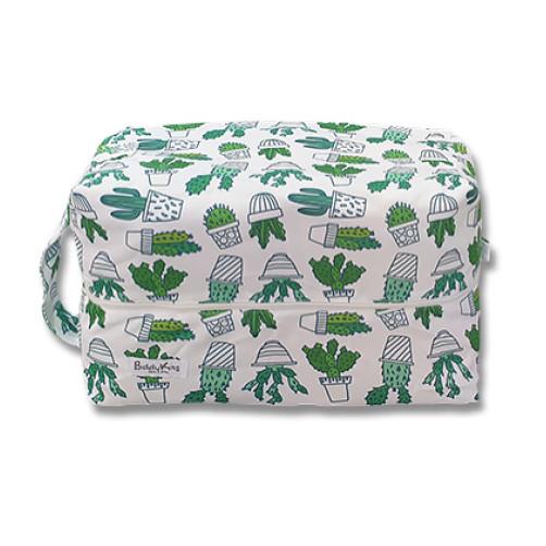 PB067 White Cactus Pots Pod Bag