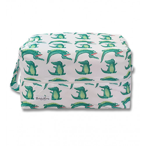 PB068 White Green Crocodiles Pod Bag