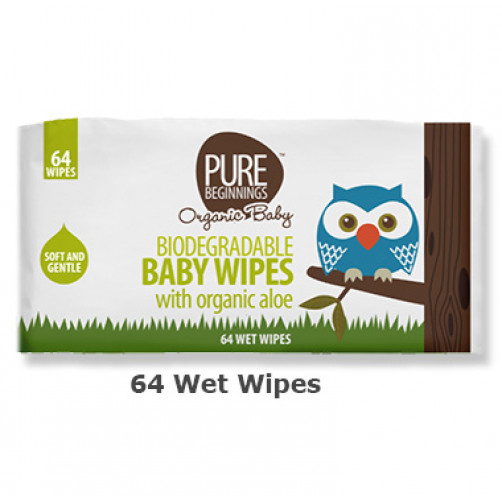 Pure Beginnings Baby Wet Wipes Aloe (64pack)