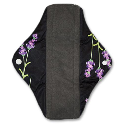 Medium Mama Cloth Black Lavender