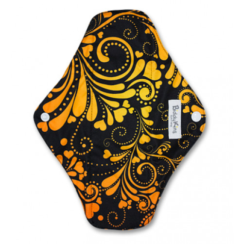 Large Mama Cloth Black Yellow Floral