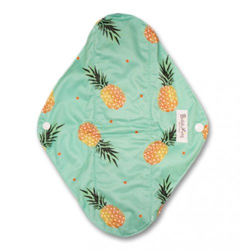 Large Mama Cloth Green Pineapples