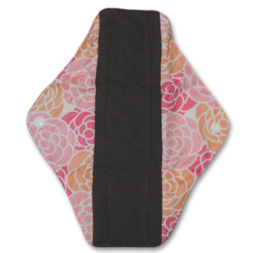 Medium Mama Cloth Pink Peach Flowers