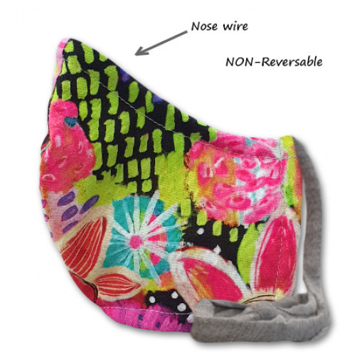 NON-REVERSABLE WITH NOSE WIRE,  Pink Green Neon - Medium