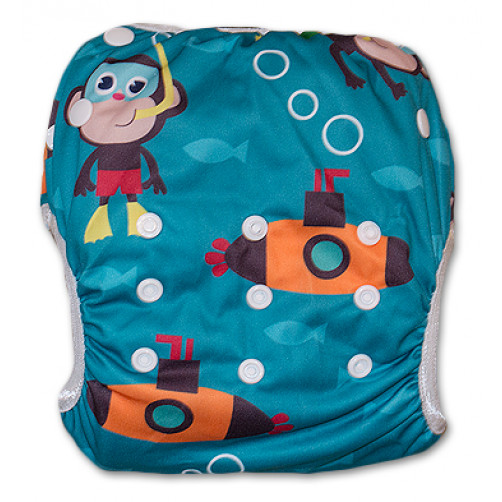 SW052 Scuba Monkey Swim Nappy