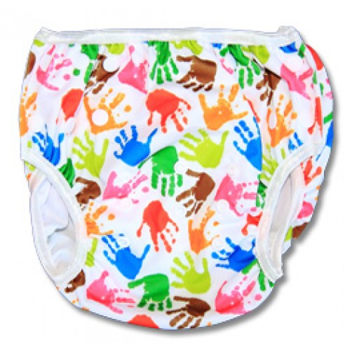 XL:  Hand Print Swim Nappy