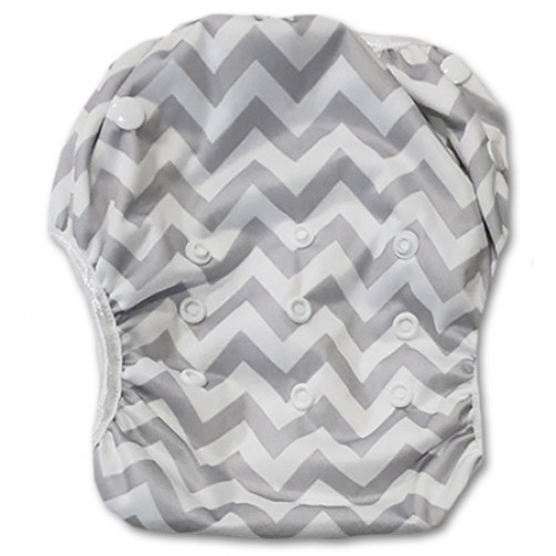 XL: Grey Chevron Swim Nappy