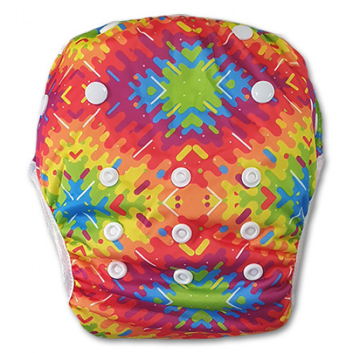 SW077 Geometric Tie-dye Swim Nappy