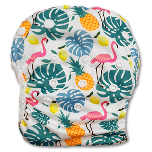 SW064 Flamingos Pineapples Swim Nappy