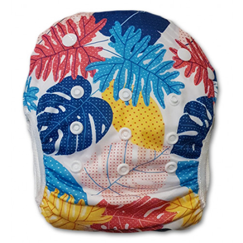 SW070 Large Multicolor Leaves Swim Nappy