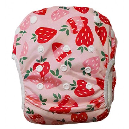 SW071 Pink Strawberries Swim Nappy
