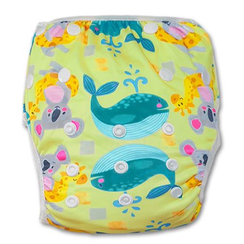 SW075 Yellow Whale & Koala Swim Nappy