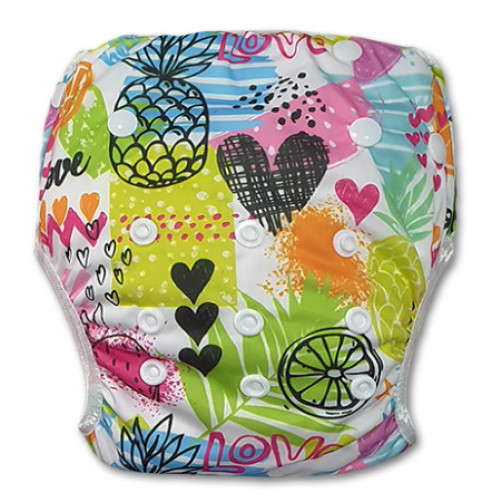 SW076 Love Fruit Sketch Swim Nappy