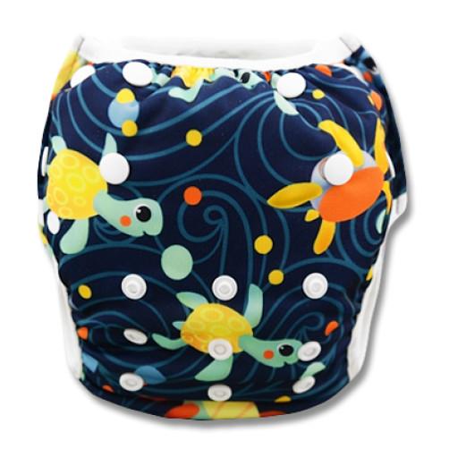 SW001 Yellow Orange Turtles Swim Nappy