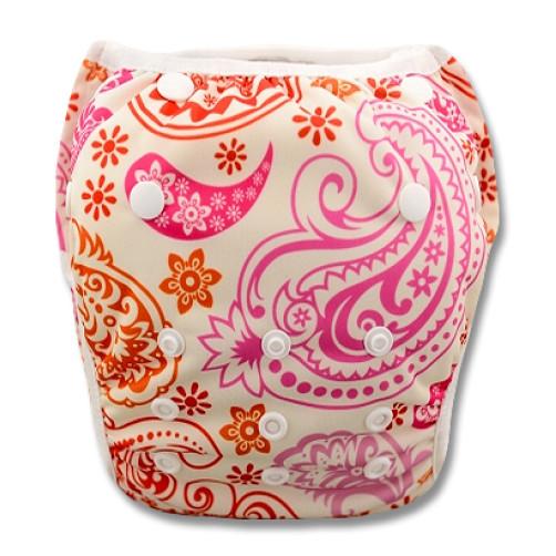 SW002 Pink Orange Paisley Swim Nappy