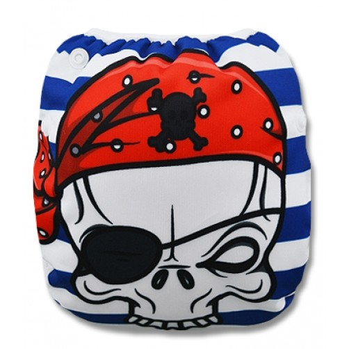 SW007 Pirate Skull Swim Nappy