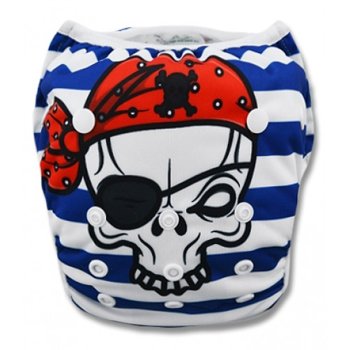 SW007 Pirate Skull Swim Nappy