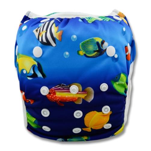 SW009 Blue Aquarium Swim Nappy