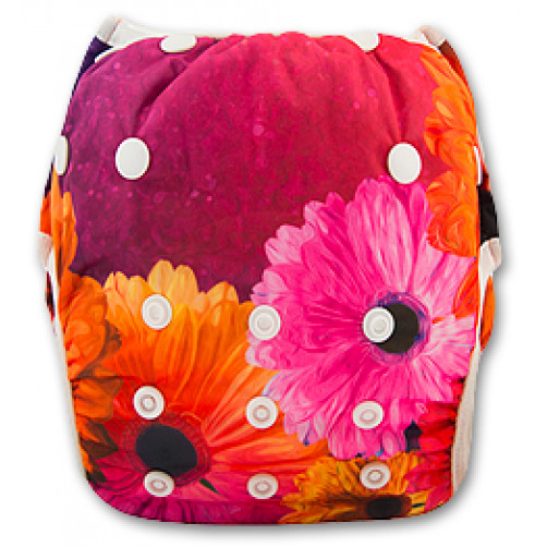 SW010 Purple Orange Flower Swim Nappy