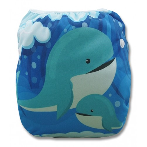 SW013 Mom Baby Whale Swim Nappy